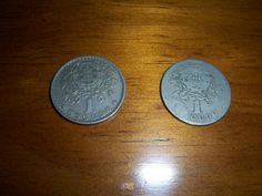 2 Moedas de 1 Escudo, 1929 e 1968