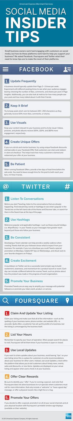 SOCIAL MEDIA - Social Media Tips for engaging Social Media Marketing #Infographic #socialmedia.