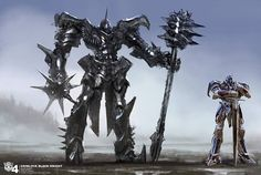 Age of Extinction's Grimlock concept art and height