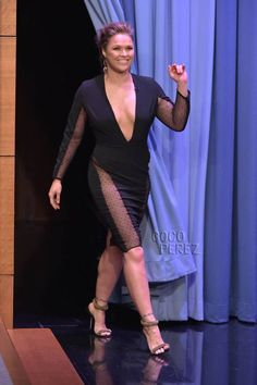Ronda Rousey from her appearance on The Tonight Show in 2015 - WrestleWithThePlot Ronda Rousey Hot, Ronda Jean Rousey, Ronda Rousy, Rowdy Ronda, Catch, Mma Fighting, Body Issues, Female Fighter, Wrestling Divas