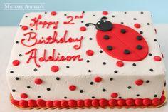 Ladybug Sheetcake #23Swirls by Michael Angelo's Bakery | Michael Angelo's Bakery