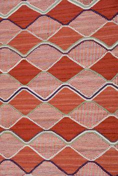 Vintage Barbro Nilsson for Marta Maas-Fjetterström flat-weave carpet. Signed AB MMF BN.