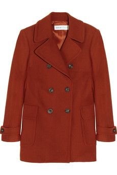 See by Chloé Double-breasted wool-blend peacoat | THE OUTNET