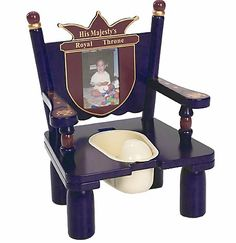His Majesty's Throne Potty Chair is the only option for a prince!