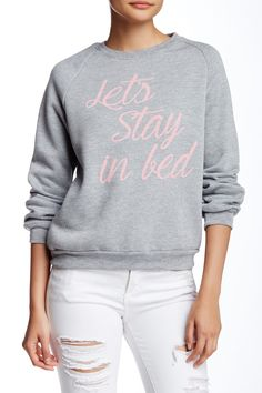 Let's Stay In Bed Sweatshirt by Project Social T on @nordstrom_rack