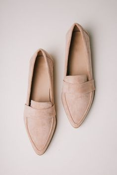 Jordan Loafers in Blush Jordan Loafers in Blush <br> Heel Man-Made Materials Also Available in Snake Print and Tan Size & Fit Fit: This Shoe Runs True to Size Shoe Boots, Shoes Heels, Pumps, Tan Shoes, Leather Shoes, Oxford Shoes, Cute Shoes, Me Too Shoes, Trendy Shoes