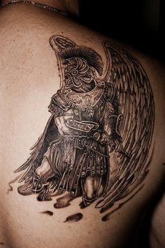 Arch Angel tattoo by Donald Purvis