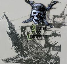 Pirates of the Caribbean T-Shirt Mens 2XL Skull Ship Disney World New With Tags #WaltDisneyWorldbyHanes #GraphicTee