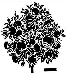 Apple Tree stencil from The Stencil Library GENERAL range. Buy stencils online. Stencil code 337.