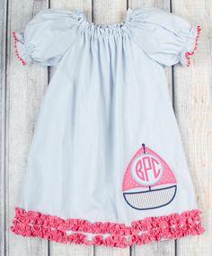 Stellybelly Sailboat Stella Puff Sleeve Dress
