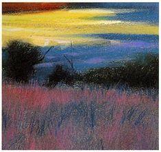 pastel landscape tutorial, free art lesson