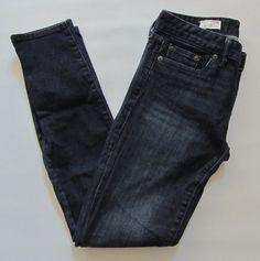 "Gap 1969 Always Skinny Jeans 26 2 Deep Indigo Dark Stretch Denim Mid 2015 29"" #GAP #LeggingsSlimSkinny"