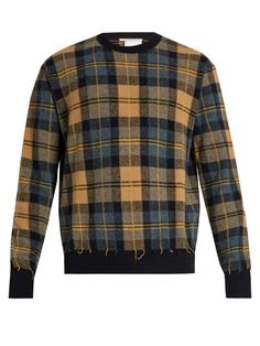 Click here to buy Stella McCartney Crew-neck checked wool sweater at MATCHESFASHION.COM
