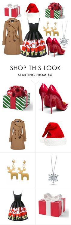 """""""Christmas Outfit"""" by jsd13711 on Polyvore featuring Grandin Road, Christian Louboutin, J.Crew and BERRICLE"""