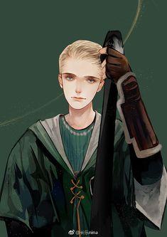 HP Draco Malfoy (Art is not mine) Harry Potter Drawings, Harry Potter Anime, Harry Potter Fan Art, Harry Potter Universal, Harry Potter Characters, Draco And Hermione, Draco Malfoy, Hermione Fanfiction, Fanart