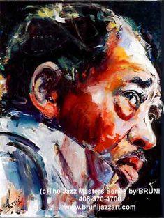 BRUNI Gallery, jazz paintings, jazz art, bruni sablan, Miles Davis Paintings, Musician Paintings, mother teresa paintings, african art, blues musician art
