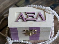 Alpha Xi Delta Quill Box by artxidesigns on Etsy, $8.00