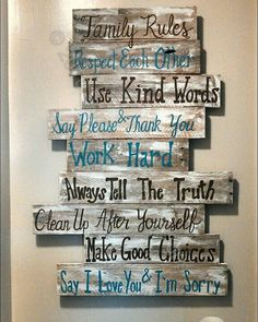 House rules sign family rules sign wood by southerncutedesigns