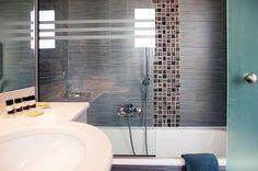 Boasting an enviable settling nearby the beach in the amazing Vravrona Bay, the grand Mare Nostrum Hotel Thalasso is within easy reach of El. Bathtub, Bathroom, Standing Bath, Washroom, Bathtubs, Bath Tube, Full Bath, Bath, Bathrooms