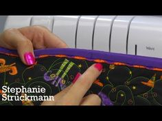 Check out this short video on threading for the Wave Stitch on the Baby Lock Enlighten! Get creative with finishing your edges with some thicker, Madeira decorative thread!.