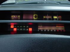 Fiat Tempra Digital Dashboard - This is a kind of magic when I was child. Can't take my eyes from this board.