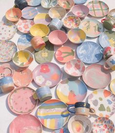 Deco Pastel, Pastel Room, Pastel Decor, Ceramic Pottery, Pottery Art, Ceramic Art, Pottery Bowls, Ceramic Painting, Keramik Design