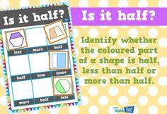 Is it Half - Bingo :: Teacher Resources and Classroom Games Bingo Games, Activity Games, Activities, Teaching Fractions, Maths, Classroom Games, Teacher Resources, Mathematics, Student