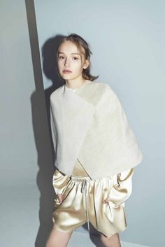 Sumptuous fabric mixing in this look from the @bassike1#autumnwinter2014 lookbook with new model to watch @Maddison Brown