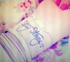 Stay Strong wrist tattoo idea ⚓ really want this above my self-harm scars
