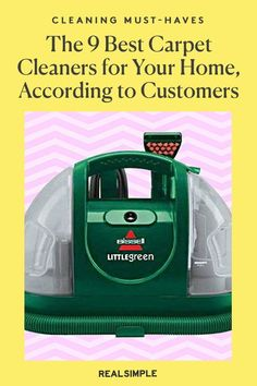 The 9 Best Carpet Cleaners for Your Home, According to Thousands of Customer Reviews   We've rounded up the nine best carpet cleaners to shop for your home that will deep clean and suck up any debris dug into your carpet. From top brands like Bissell, Shark, and Dirt Devil, they have more than 18,000 combined five-star reviews and other Amazon favorites to help you save time in your cleaning routine. #cleaningtips #cleanhouse #realsimple #stepbystepcleaning #cleaninghacks #cleaningguide Deep Cleaning, Cleaning Hacks, Dirt Devil, Laundry Hacks, Best Carpet, Carpet Cleaners, Tidy Up, Real Simple, Clean House