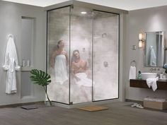 Möbel selber machen Spa-Inspired Steam Showers - The Steamist Total Sense Steam Spa Turns a Bathroom Steam Room Shower, Sauna Steam Room, Steam Showers Bathroom, Home Steam Room, Shower Rooms, Sauna Shower, Zen Bathroom, Master Bathroom, Modern Bathroom