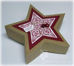 Stempeleinmaleins: Sternenschachtel - star box