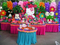 Resultado de imagen para fiesta de hello kitty decoracion