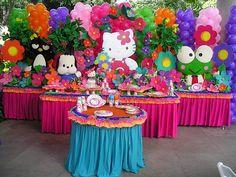 fiesta de hello kitty decoracion