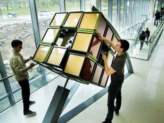 Massive Rubik's Cube installed on University of Michigan campus University Of Michigan Campus, Stationary Design, Mechanical Engineering, Dollar Stores, Over The Years, Outdoor Gear, Rubik's Cube, Google Search, Outdoor Tools