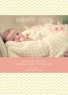 gorgeous birth annoucement for baby girl