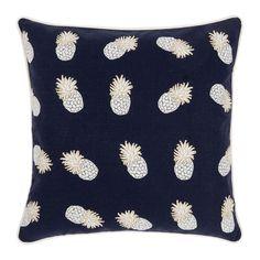 Buy Elizabeth Scarlett Ananas Cushion - 45x45cm - Indigo   Amara