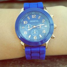 Watch Soft silicone strap watch. Color blue, as seen in picture! Accessories Watches