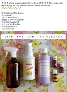 Young living bathroom and tile cleaner