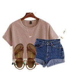 A fashion look from February 2017 featuring WithChic t-shirts, Birkenstock sandals and Kendra Scott necklaces. Browse and shop related looks. Cute Outfits For School, Cute Summer Outfits, Cute Casual Outfits, Simple Outfits, Outfits For Teens, Spring Outfits, Teens Clothes, Rock Outfits, Summer Clothes