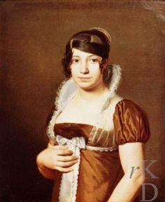 Portret van Nieskia Reiniera Wentholt (1789-1862), 1812 gedateerd Leeuwarden, Fries Museum.  Painter Willem Bartel van der Kooi