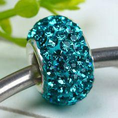 Turquoise Swarovski Crystal Beads (3 Available)