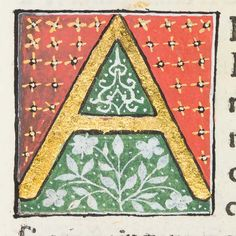"Decorated initial ""A"" in Scriptores historiae Augustae by University of Glasgow Library, via Flickr"