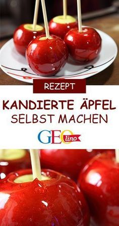 Kandierte Äpfel: Rezept zum Nachbacken We reveal a recipe with which you can make the candied apples yourself. # Christmas kitchen # Christmas bakery children # children's kitchen Apple Recipes, Baking Recipes, Dessert Recipes, Christmas Kitchen, Christmas Desserts, Christmas Cooking, Homemade Christmas, Childrens Meals, Candy Apples