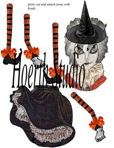 Halloween DIY Gothic witch paper doll by Raidersofthelostart