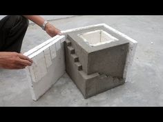 Handmade Cement Ideas - Casting a Concrete Planter Pot From Styrofoam And Cement for Beginners - YouTube