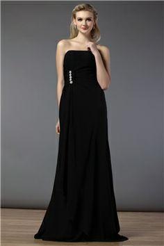 Charming A-Line Strapless Floor-Length Bridesmaid Dress