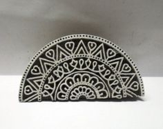 Indian wooden hand carved wood stamp perfect by chhaviscollections Textiles, Textile Prints, Block Printing Designs, Indian Block Print, Handmade Stamps, Fabric Stamping, Wood Stamp, Wood Resin, Wooden Hand