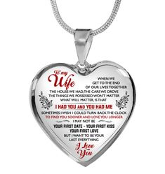 My Wife - - Forever Love Gifts Great Gifts For Wife, Love Gifts, Glass Coating, My Wife, Gold Plated Necklace, Beautiful Necklaces, Dog Tag Necklace, Christmas Gifts, Stuff To Buy