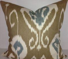 Kravet Bansuri Ikat Decorative Pillow Cover by PillowTimeGirls Ikat Pillows, Toss Pillows, Accent Pillows, Pattern Design, Print Design, Floral Design, Cushion Fabric, Decorative Pillow Covers, Lumbar Pillow